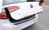 Stainless Steel Tailgate Rear Trunk Hatch Lid Cover Trim For Volkswagen VW Golf 7 MK7 2013