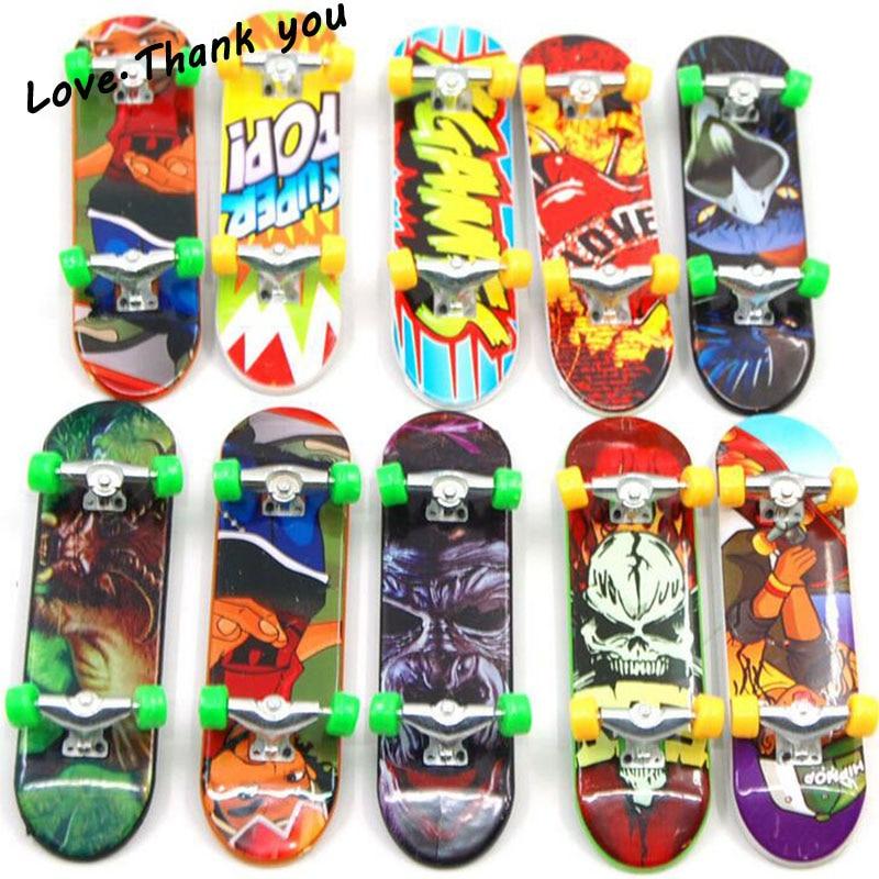 10pcs Random different style Fingerboard Tech Decks 96mm Mini Skateboard Original Boys Toy For Children