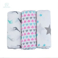 EGMAO BABY Organic Baby Swaddle Muslin Bamboo Cotton Baby Blanket Diapers Envelope For Discharge Newborns Wrap
