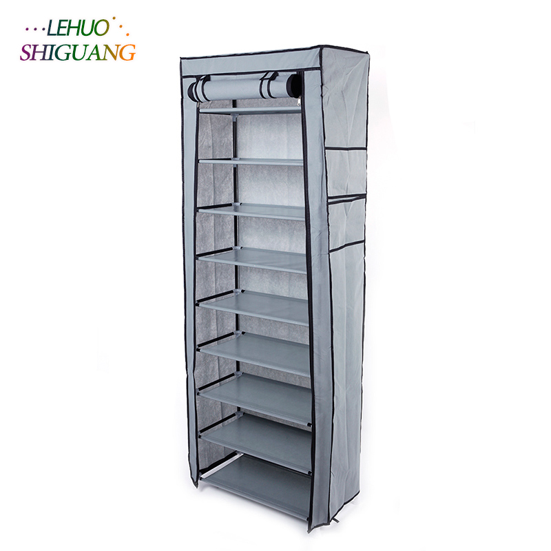 10 layers 9 grid Shoe rack Non-woven fabric organizer storage cabinet Assembly shelf Shoe cabinet home living room Furniture double row 12 grid shoe rack wine red non woven organizer storage cabinet assembly shelf shoe cabinet home living room furniture