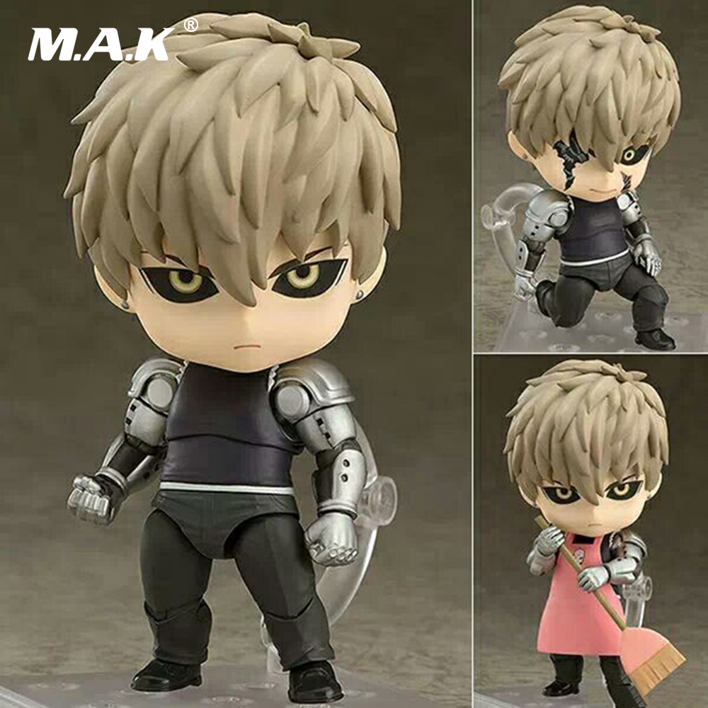 10CM One Punch Man Genos Nendoroid Action Figure 645# Genos Doll PVC Toy Brinquedos Anime figure Super Movable Edition rem re life in a different world from zero action figure nendoroid 10cm pvc anime figure collectible model toys brinquedos