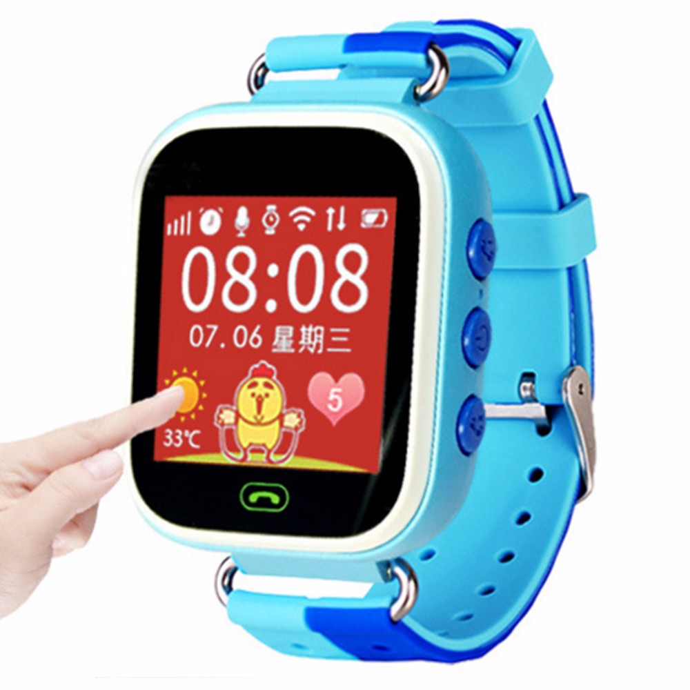 Free shipping GPS Tracker Kids font b Smartwatch b font Wrist Sim Smart Watch Phone Anti