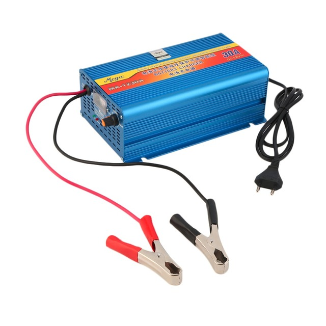12V 30A Lead Acid Battery Chargers Car Battery Charger Motorcycle Battery Charger  EU Plug Blue Wholesale