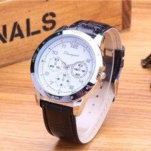 2015 El nuevo negocio de la moda relojes de marca, correa de cuero de cuarzo reloj de los hombres Clásico reloj de pulsera relogio masculino regalo del Hombre