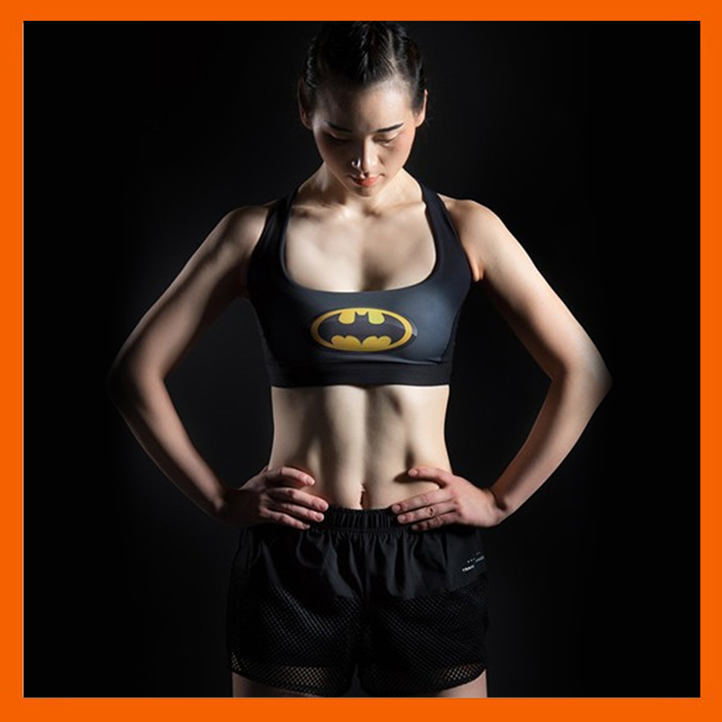 BAT MYSTERIOUS SHOCKPROOF SPORTS BRA GATHER UNDERWEAR FITNESS CLOTHES FEMALE SUPERMAN QUICK-DRYING BRA YOGA CLOTHES