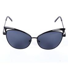 New Women Metal Frame Sexy Cat Eye Sunglasses Coating Vintage Sun Glasses Female Oculos de grau Femininos UV400 LY6