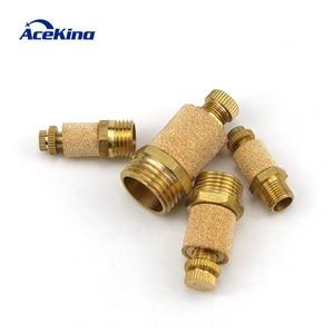 "Pneumatic brass adjustable muffler exhaust valve 1/8"" /1/4"" /3/8"" /1/2 throttle valve solenoid valve muffler control displaceme(China)"
