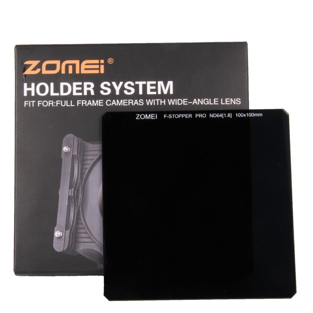ZOMEI 100*100MM Optical Glass Neutral Density Square Cokin Z filter ND1000(3.0)/64(1.8)/8/4/2 zomei 100mm nd64 square filter hd optical glass 100x100mm 6 stop neutral density nd filter for cokin z lee hitech 100mm holder