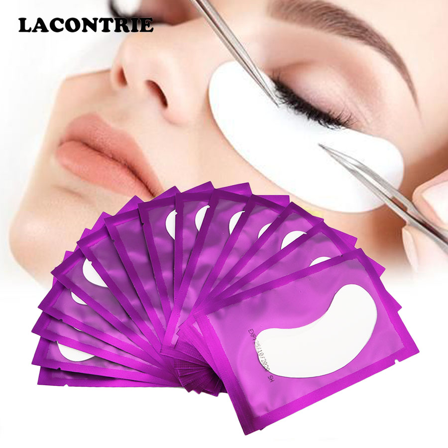 25/50/100PCS Under Eye Pads Patch Set Eyelash Extensions Pads 100% Natural Hydrogel Under Eye Gel Pads For DIY Eyelash Extension