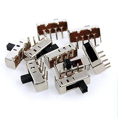 Kitchen Appliance Parts Home Appliances 100 Pcs Dc 50v 0.5a 2 Position Dpdt 2p2t Pcb Mount Vertical Slide Switch 6 Pin Dip Ss22f04 Convenience Goods