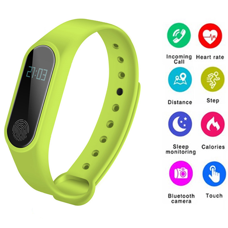 M2 Smart Bracelet Pedometer Heart Rate Wristband Sleep Monitor Sport Smart Watch fitness Tracker For IOS Android