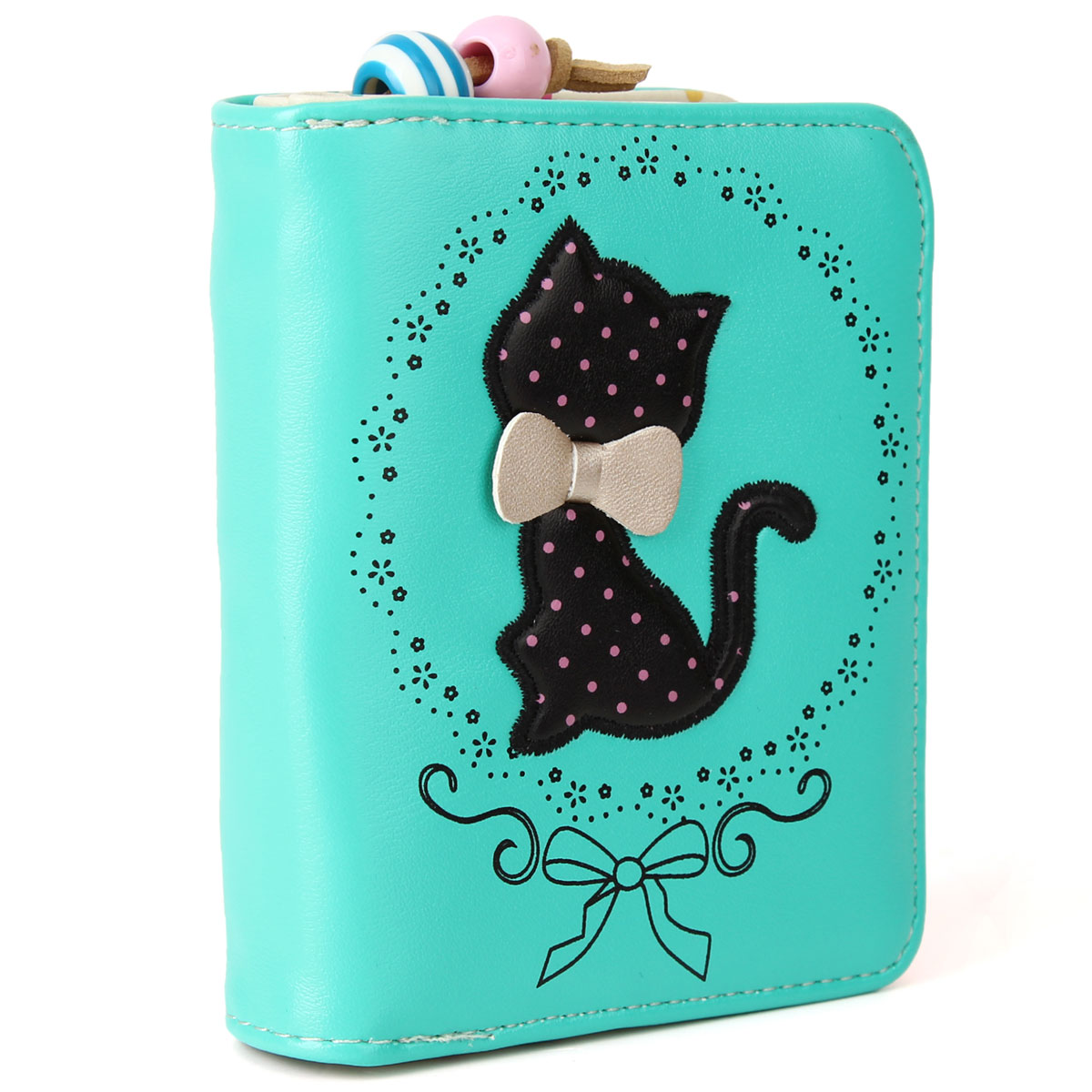 AEQUEEN Leather Wallet Women Short Purse Small Lovely Cartoon Cat Coin Purses Bow Girls Small Wallets Notecase Bowknot Purse fifty shades darker anastasia серебристая маска маскарадная