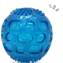 Squeak Toy For Dog Ball Chew Sound Rubber Bite Resistant Blue Chewing Large Toys Teeth Cleaning M Orange