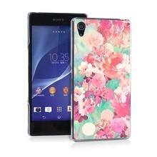 Full Bloom Flowers Pretty Funny UV Black Bag Case For Sony Z2