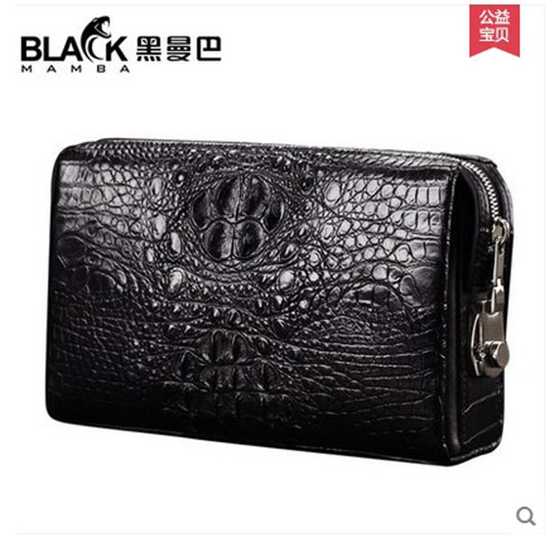 2018 heimanba crocodile leather men clutch bag men business code lock large capacity real crocodile men bag man bag body sculpture r0226 1