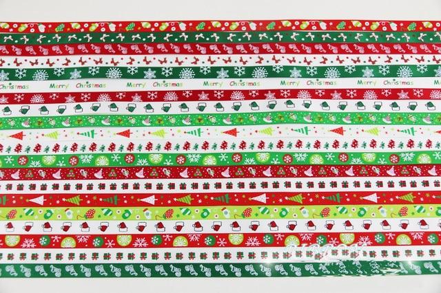 """(2 Meters/lots) 3/8 ''(10 מ""""מ) לבן אדום ירוק סאטן סרטי סנטה קלאוס שלג מודפס חג המולד קישוט חתונה גלישת מתנה"""