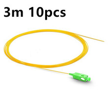 3m 10pcs SC APC fiber pigtail Simplex 9/125 Single Mode SM G657A Fiber Optic Pigtail шнур оптический соединительный sc sc apc sm 9 125 simplex 3 м