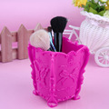 High Quality 5 Colors Butterfly Cosmetics Makeup Brush Storage Box Case Holder Pencil Pen Stand New Sale