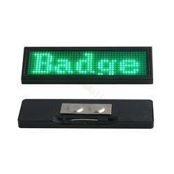 1 stück Grün Led-namensschild Wiederverwendbare Tag LED Karte mit 44x11 Pixel USB Programmierung Digital für Restaurant Hotel