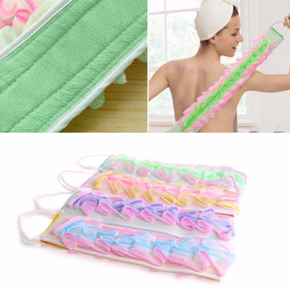 Easy Loofah Back Strap Exfoliating Body Bath Shower Back Sponge Brush Scrubber Pro