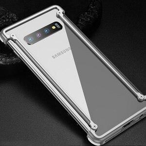 Image 2 - Original Aluminum Metal Bumper Case For Samsung Galaxy S10e Luxury Slim Hard Airbag Drop Protection Case for Samsung S10e Cover