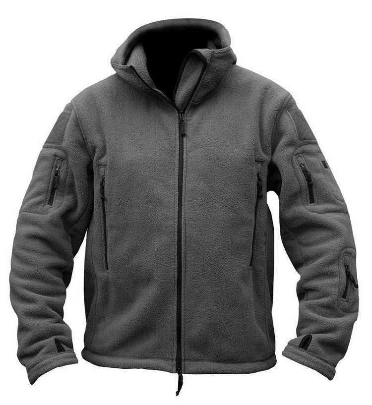 جاكيت من الصوف التكتيكي العسكرية الرجال الجيش الأمريكي Polartec سترة واقية الملابس الذكور جيوب متعددة قميص هوديي معطف للرجال