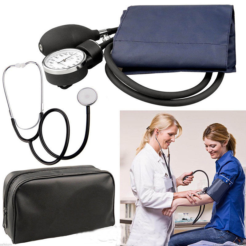 Blood Pressure Stethoscope Set Medical Blood Pressure Monitor Meter Tonometer Cuff Stethoscope Kit Sphygmomanometer 0-300mmHg 2018 manual blood pressure cardiology stethoscope medical sphygmomanometer arm double head stethoscope health care
