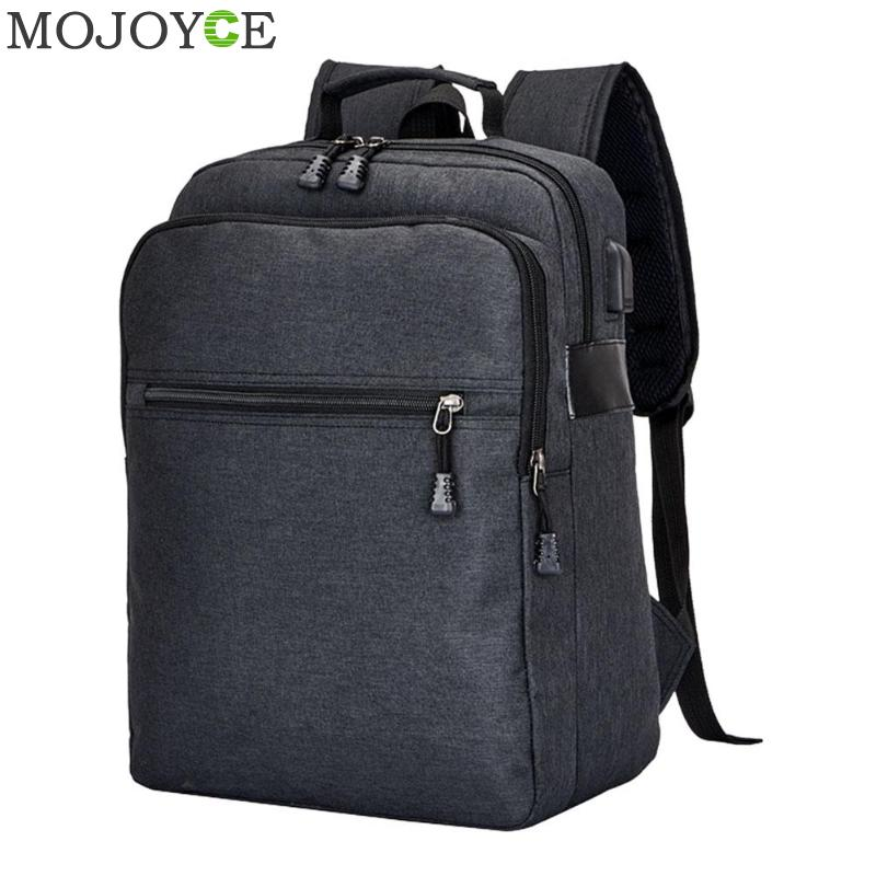 14 inch Men Backpack Anti Theft Man USB Charging Laptop Backpacks with Headphone Plug Casual Travel Bags mochila for Teenagers ...