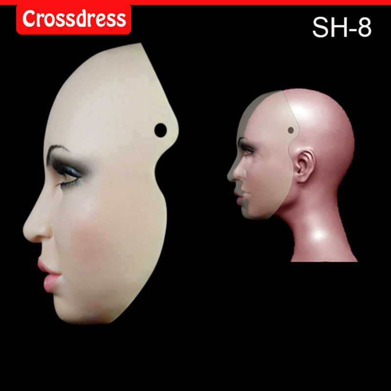 где купить SH-8 Beautiful female silicone mask Face mask Christmas special Halloween activities, the eye can see по лучшей цене