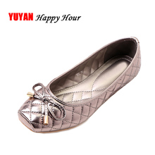 New 2019 Spring Shoes Women Flats Square toe Soft Single Shoes Ladies Brand Shoes Fashion Flat Heel Bowknot ZH2496