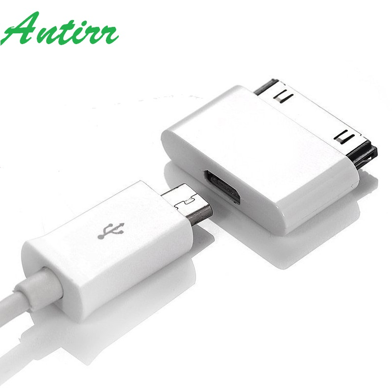 Micro USB to 30 Pin USB Adapter <font><b>Connector</b></font> Converter Cable Adapter for <font><b>iPhone</b></font> <font><b>4</b></font> 4s 4G 3GS Phone For iPad iPod Charger Adaptor image