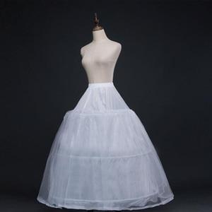 Image 2 - 52016 Wedding Dress Crinoline Bridal Petticoat Underskirt 3 Hoops