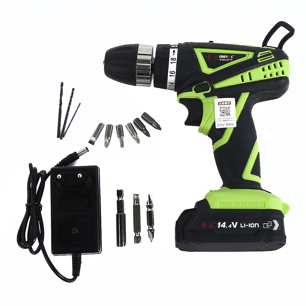 SUNTOL 12V Hand Electric Drill Lithium Battery Rechargeable Cordless Drill Home Electric Power Tools Mini Drill Dremel dremel diy electric hand drill machine micro mini rectifier mini power drill electric power tools mini drill dremel
