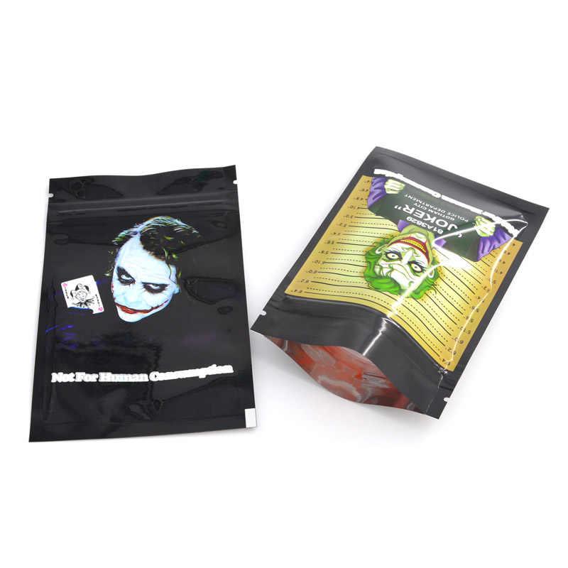100 個 8.5 × 13 センチメートル (3.3 '× 5.1' ') ジップロックポーチバッグアルミマイラー箔食品バッグ 5 〜 10 グラムカスタマイズプリントバッグ送料無料