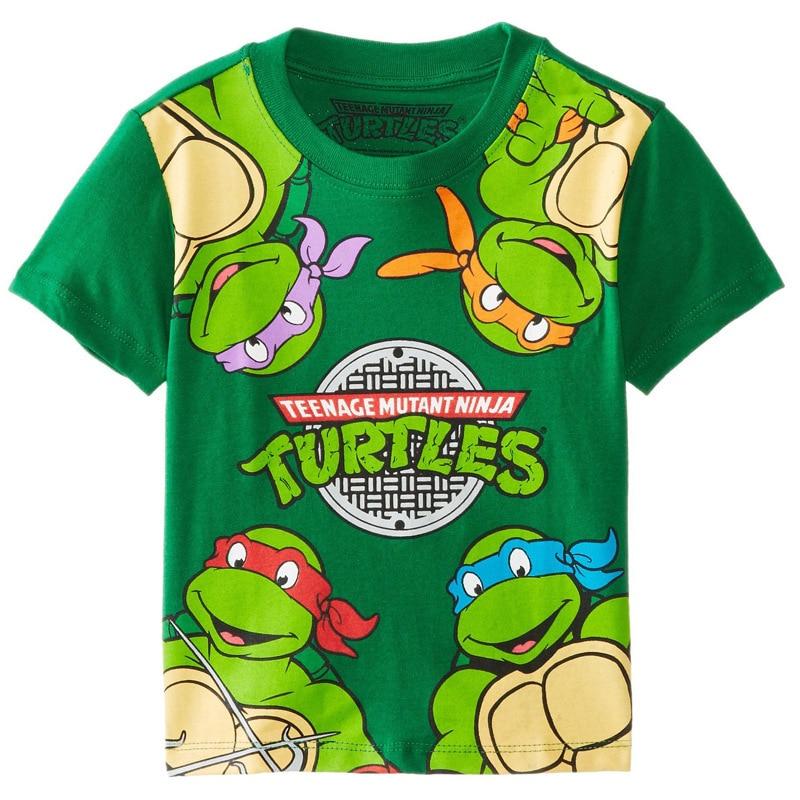 Summer Style Boys T Shirt Cartoon Turtles Boy Clothing