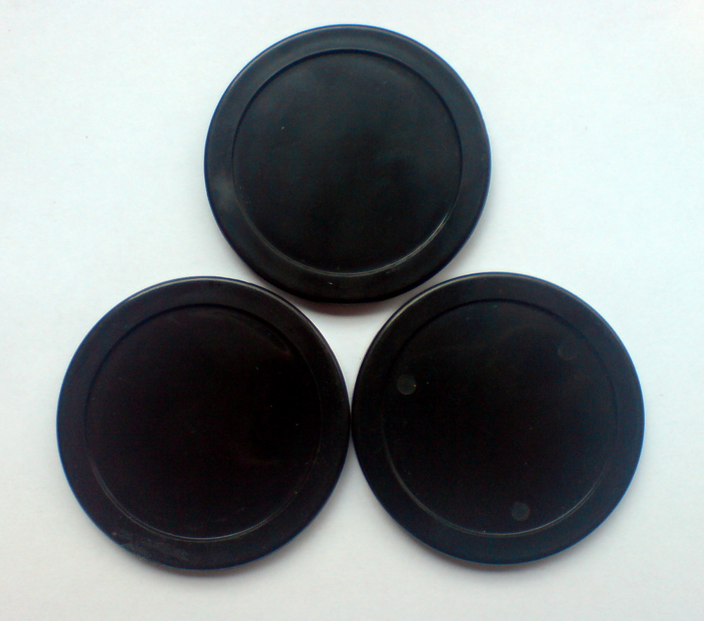 Free shipping 10pcs/lot black Air hockey table pusher puck 63MM 2-1/2