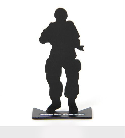 10pcs/lot full metal soldier model military target for airsoft free shipping