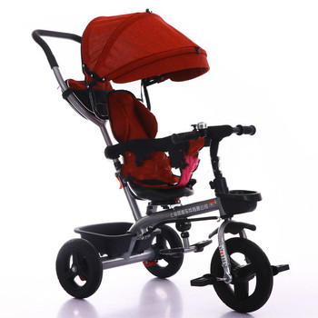 Cheap Price Rotating 4 in 1 Stroller Eco-friendly Children Baby Tricycle Bike Folding Portable Baby Carriages
