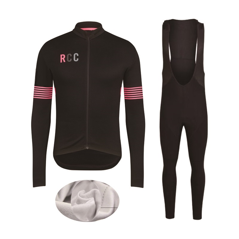 2017 RCC Cycling Jersey Suit Winter Long Sleeve Bike Clothes Thermal Fleece Cycling men's Winter Clothes MTB Bicycle clothing fualrny 2018 winter thermal fleece cycling jersey set men long sleeve mtb bicycle clothing jersey and bib pants bike clothes