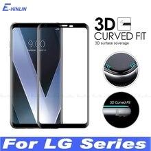 3D Cong Edge Full Kính Cường Lực Cho LG Nhung V30 V30S V35 V40 V50 V50S G8X G8 G7 Plus thinq 5G Dán Bảo Vệ Màn Hình