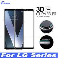 3D Curved Edge Toughened Full Cover Tempered Glass For LG V30 V30S V35 V40 V50 G8 G7 Plus ThinQ Screen Protector Protective Film