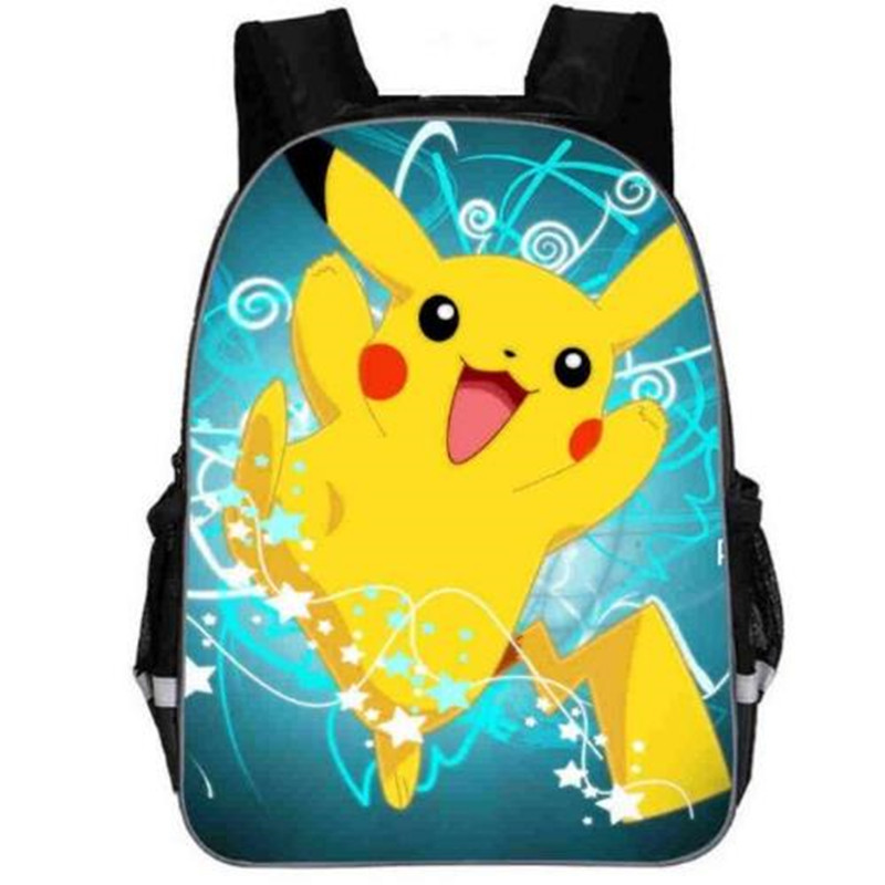 Pokemon Pikachu Anime Backpacks Team Valor Snorlax Mario Dog Boys Girls Teenager School Bags Mochila Kids Schoolbag