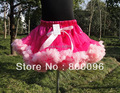 Wholesale Kids Rose White Bow  Skirts Baby 2015 for Children Clothing Petticoat For Girls PETS-028