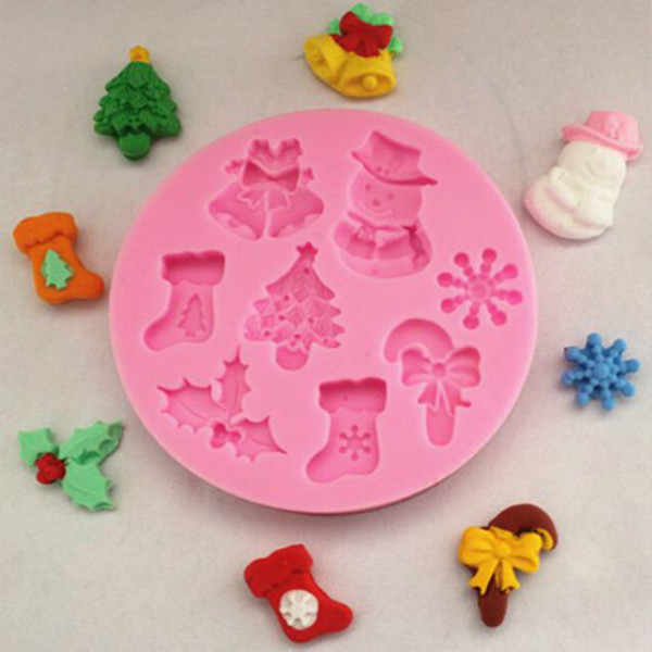 free shipping new beautiful christmas silicone mold fondant cake decorating tools silicone cake mold on aliexpresscom alibaba group