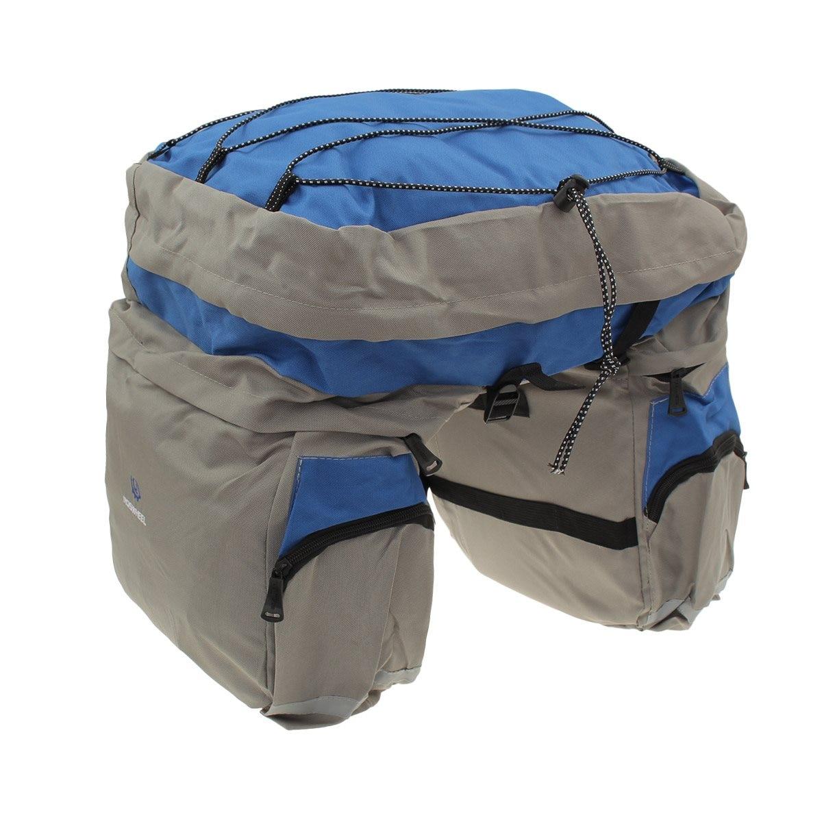 ФОТО ROSWHEEL Bicycle Large Triple Bike Cycling Rear Pannier Luggage Bag Rack+Waterproof Cover