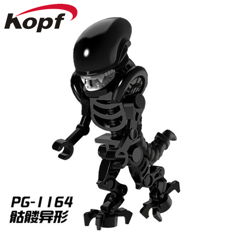 PG1164 Super Heroes Skeleton Skull Alien One-Eyed Halloween Cyclops Omino Snake Undead Building Blocks Action For Children Toys airsoft adults cs field game skeleton warrior skull paintball mask
