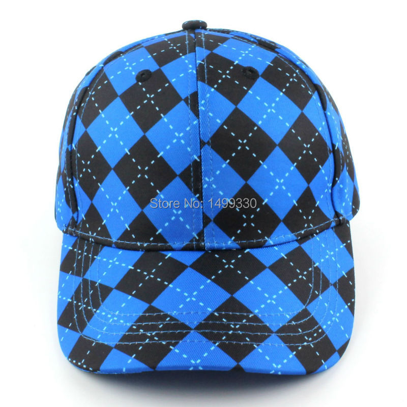 24787be87b7 Free Shipping New Geometric Golf Hat Baseball Visor Hat Cap Classic Cut  Golf Caps Blue Black-in Golf Caps from Sports   Entertainment on  Aliexpress.com ...
