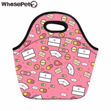 WHOSEPET Lunch Bag 3D Cute Cartoon Nurse Food Bag for Women Kids School Portable Lunch Bolsa Thermo Picnic Bags Sacola Female