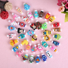 50Pcs Cartoon Cable Protector For iPhone4 4s 5 5s 6 6plus 6s 7 8 USB Charging