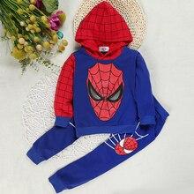 Baby Boy Clothing Sets Spring Autumn Infant Tracksuit Outfits 2pcs Hoodies Spiderman Coat+pant Set Toddler Boy Clothes Suit 2-5Y